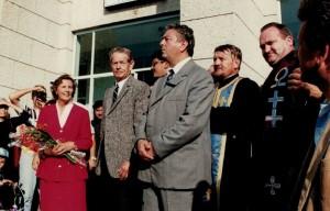 Regele Mihai cu Regina Ana în vizită la Făgăraş, în 1997