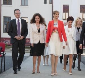 """Prinipesa Maria în vizită la Colegiul Naţional ,,Doamna Stanca"""", în anul 2015"""
