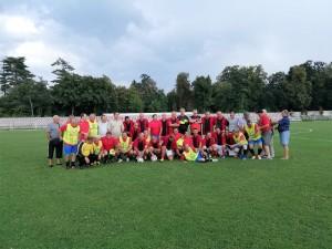 cele două echipe în returul de la Făgăraş, 17 august 2018