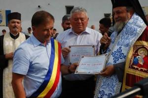 Primarul Andreaş, viceprimarul Ruja şi Mitropolitul Ardealului