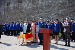 Ceremonial în fața Cetății Făgăraș