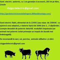 Gard  electric  puternic, cu 1 an garanţie şi accesorii, 265 lei pt 4km, 2Joule